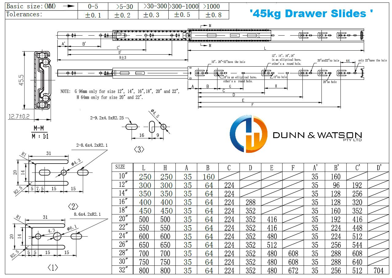 45kg-hole-centers
