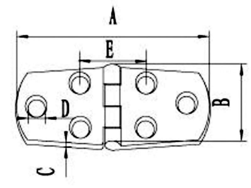 316 Stainless Steel Boat Hinge 07