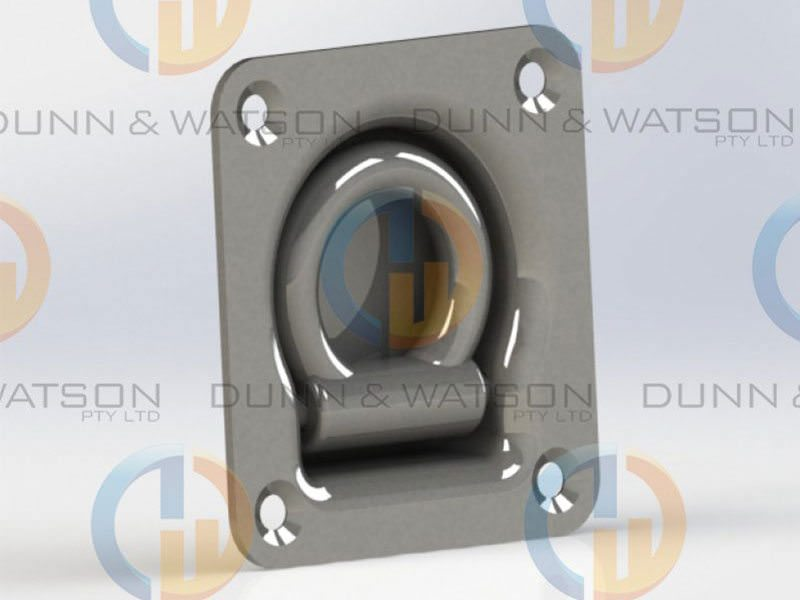 Recessed Stainless Steel Tie Down Large 8