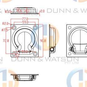 Recessed Stainless Steel Tie Down Medium 1 copy
