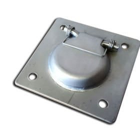 Recessed Stainless Steel Tie Down Small 9