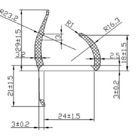 PVC Door Seal Single Leg 3000mm Black 1