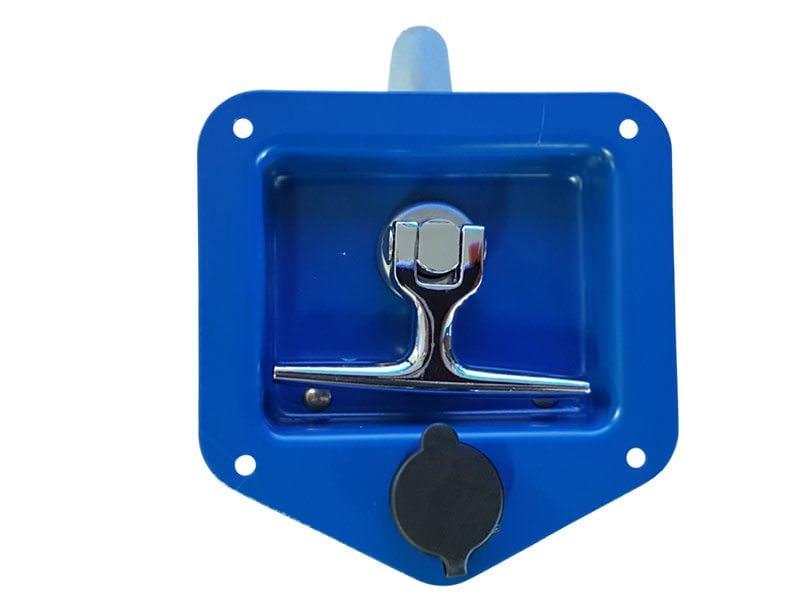 Folding T Handle Blue Powder Coat1