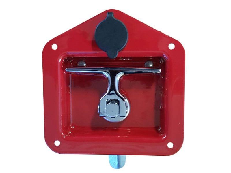 Folding T Handle Red Powder Coat2