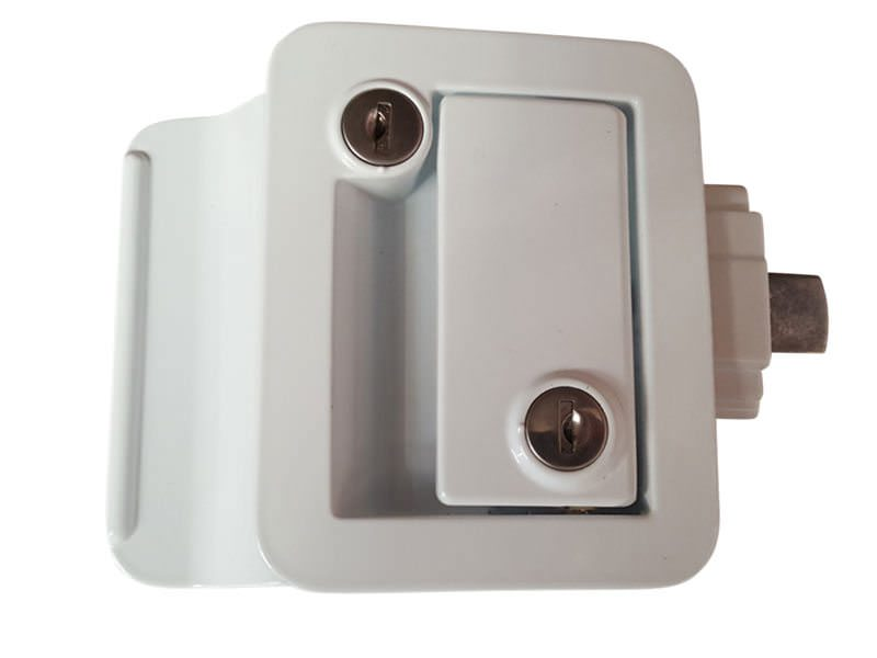 Trailer Door Lock White 2