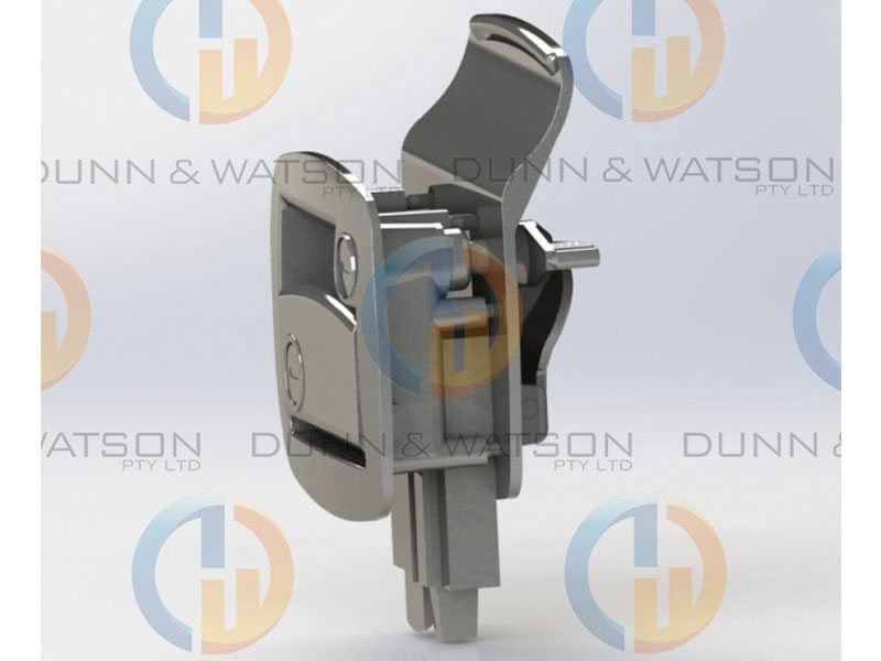 Trailer Door Lock White 7