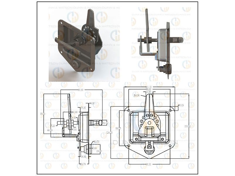 folding t handle CAD 2