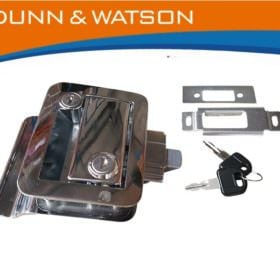 trailer door lock chrome tpd