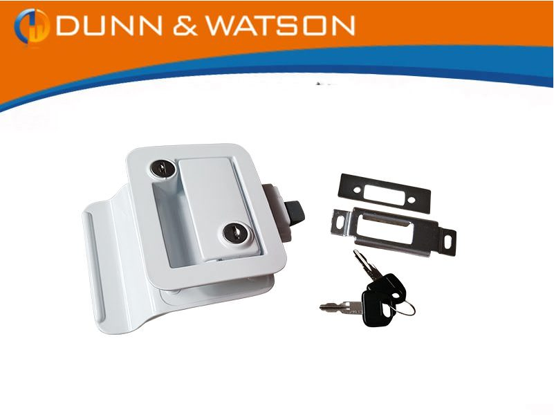 trailer door lock white tpd
