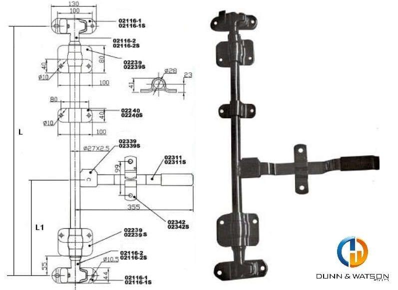 27mm cam lock kit
