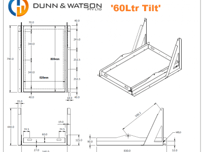 60Ltr Tilt CAD