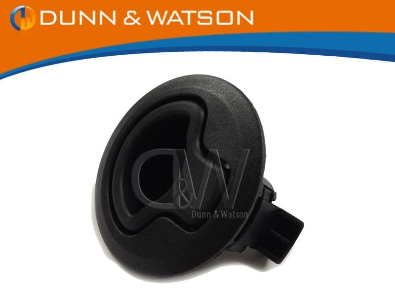 Black Plastic Finger Pull BUTTONS