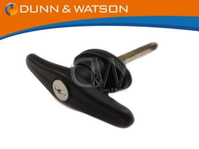 Front Fixing T Handle Black Plastic btn