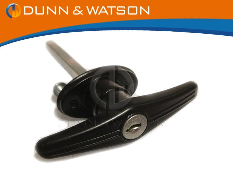 Rear Fixing T Handle Black Finish btn