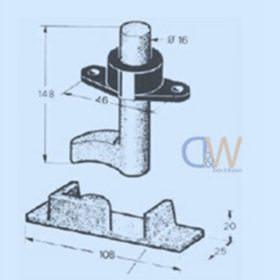 Recessed Cam Kit Aluminium 1