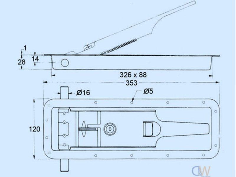 Recessed Cam Kit Aluminium 2