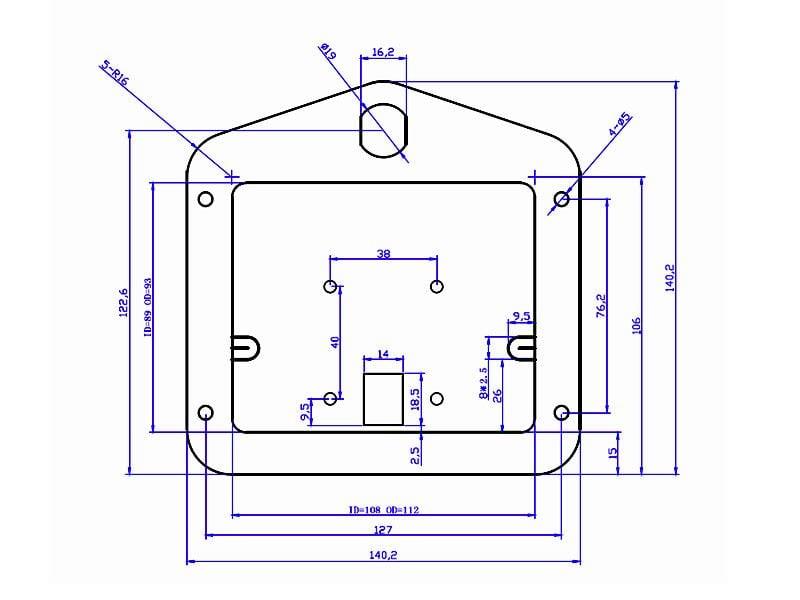 Stainless Steel Cargo Drawer Lock Handle Drawings