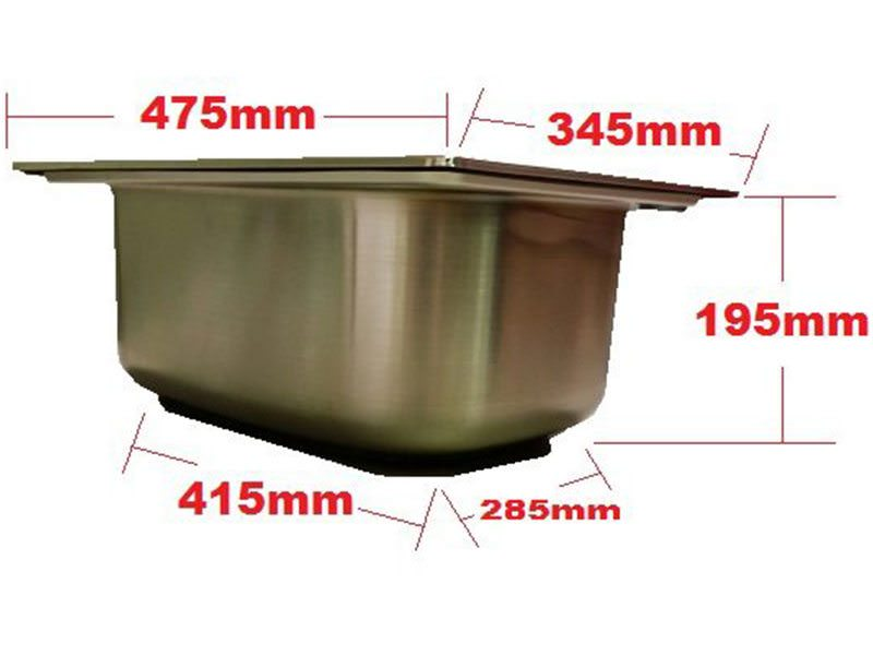 Small sink stainless steel trailer parts direct - Caravan kitchen sink ...
