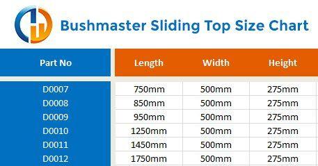bushmaster sliding top size chart 1
