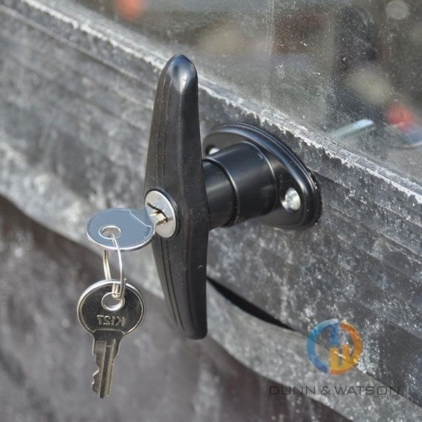 Lock Black T Handle 4