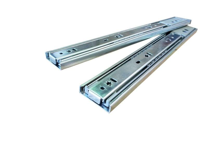 45KG Soft Close Drawer Slides Zinc