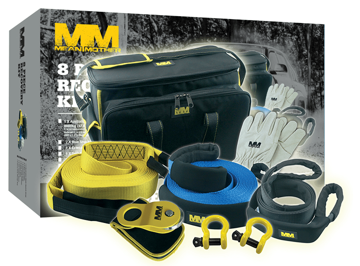 Mean Mother 1100kg 4wd Recovery Kit 8 piece