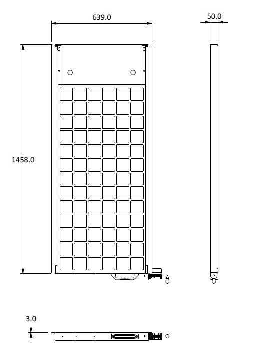 100W slide out solar panel cad