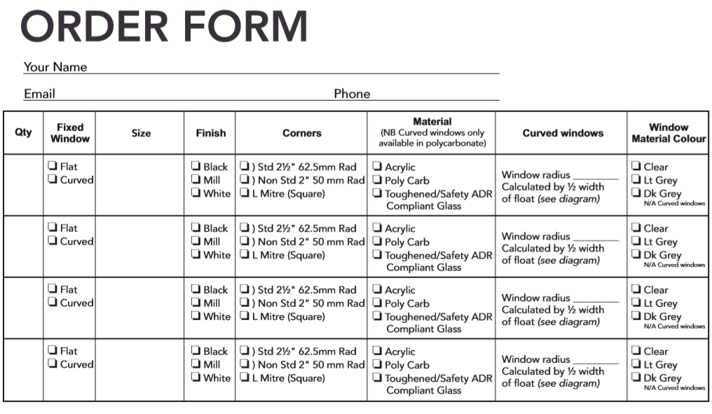 fixed window order form 1