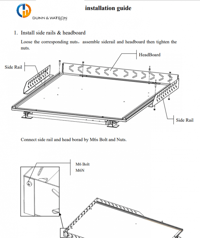 install sheet graphic