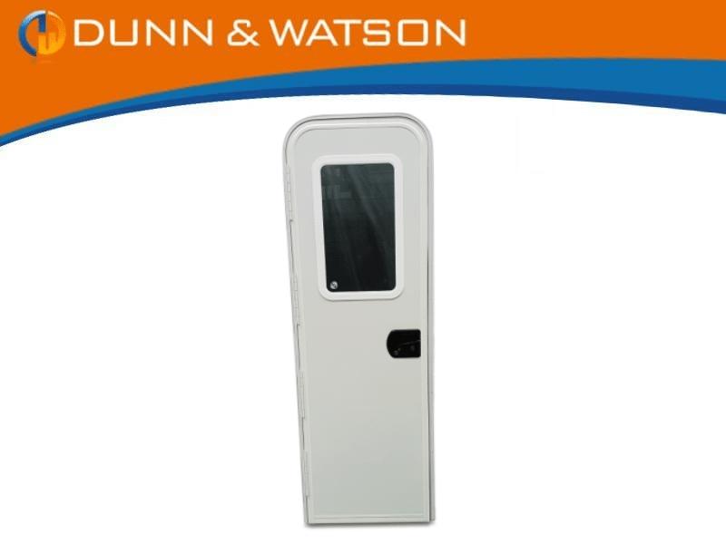 white radius door
