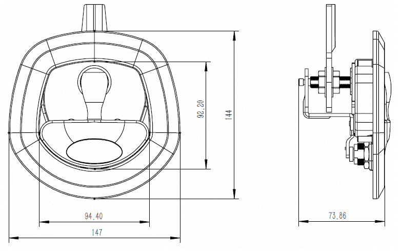 whale tail faced drop t dimensions