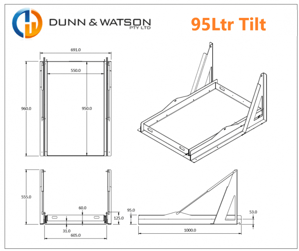 95Ltr Tilt CAD