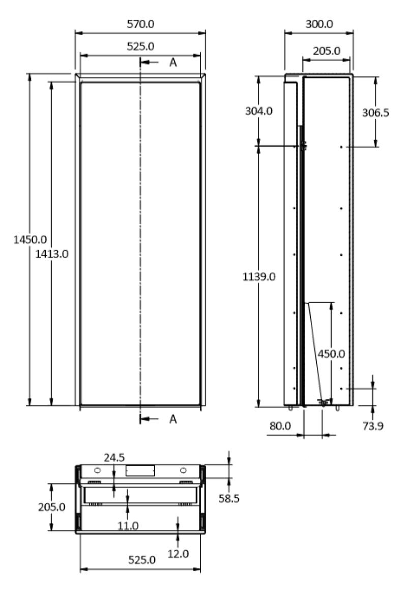 eco bench 1450 size