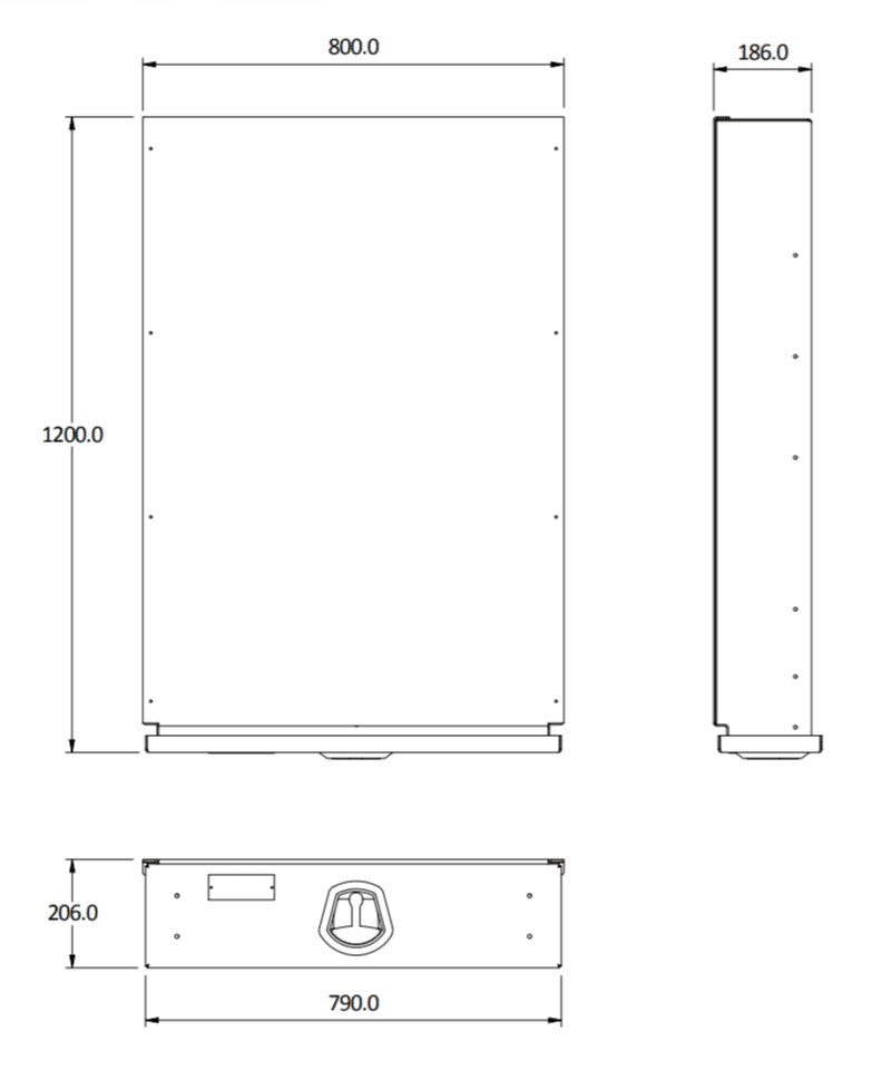 under tray size 1200