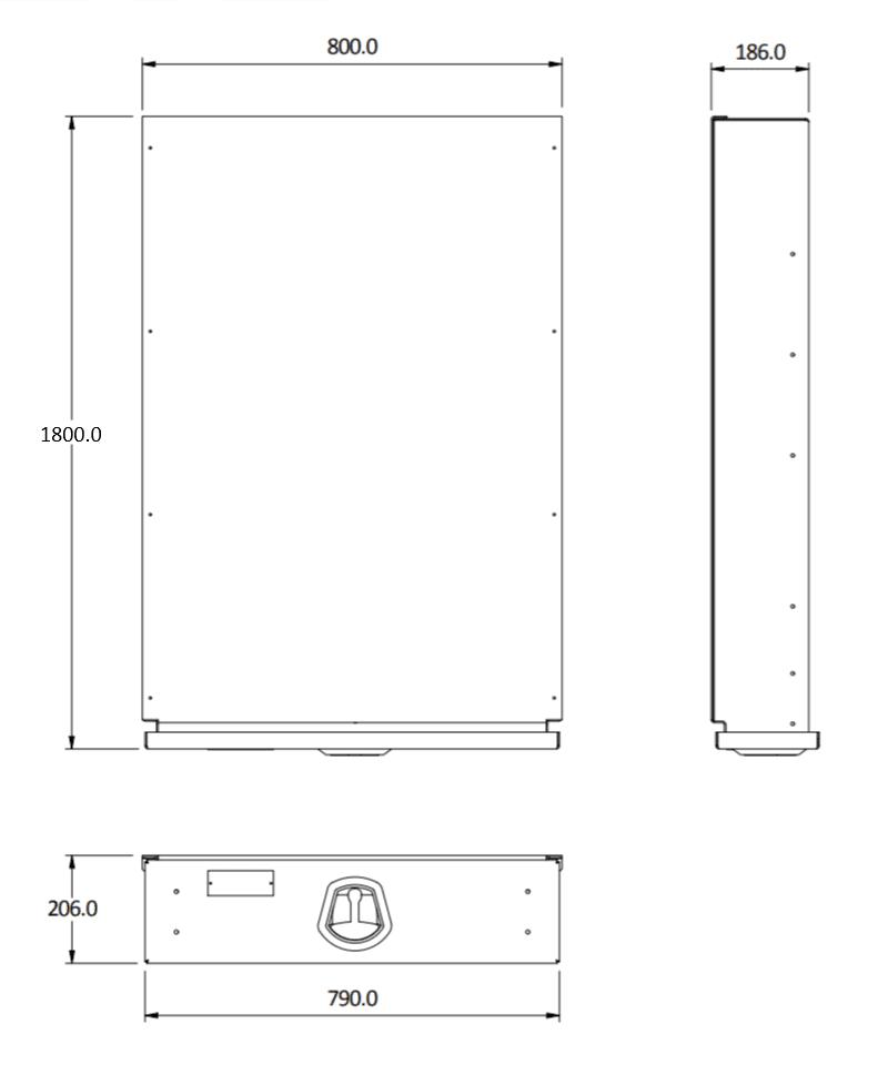 under tray size 1800