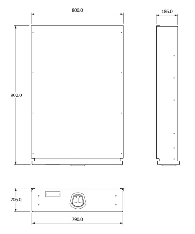 under tray size 900