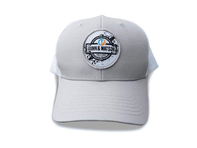 hat white round 2
