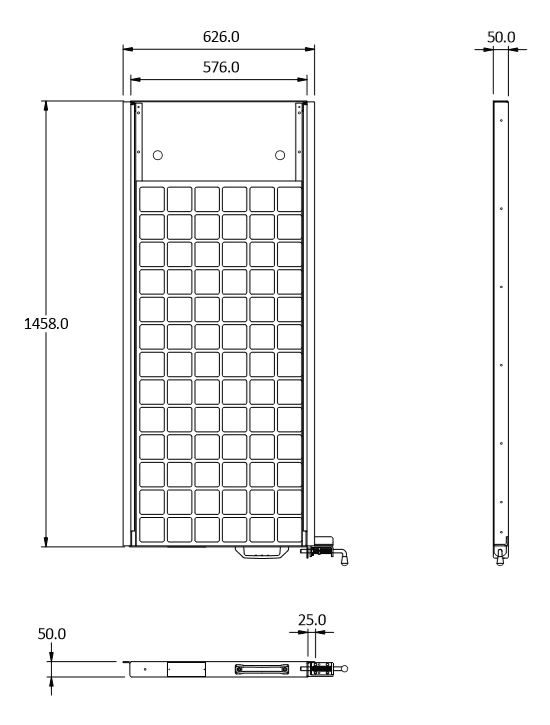 100w slide out panel cad 2