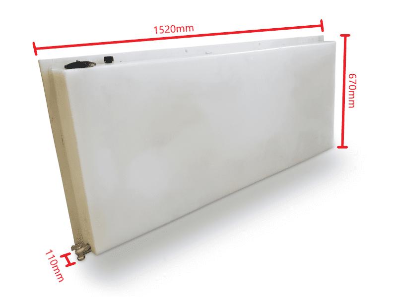 70l headboard tank size